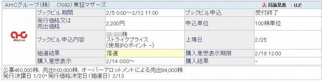 AHCグループ(株)   (7083)