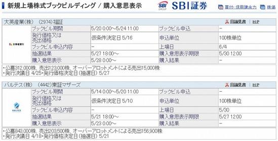 SBI証券 IPO