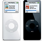 iPod nano 2つ並んだ様子