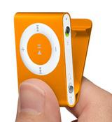 iPod shuffleのオレンジ