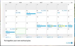 miCoach Monthly Plan