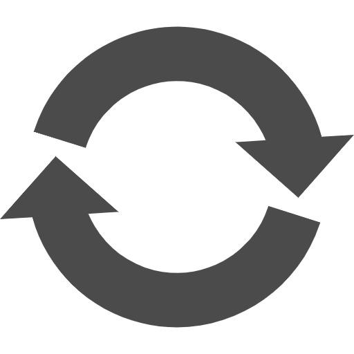 リサイクルマーク 丸型の矢印アイコン素材 5