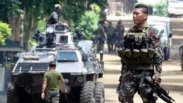 philippine fight against militans at Mindanao