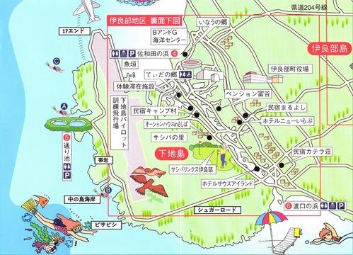 下地島一周地図