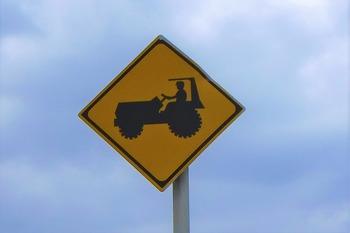 トラクター注意看板