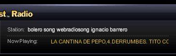ShoutCastで『Bolero Song』