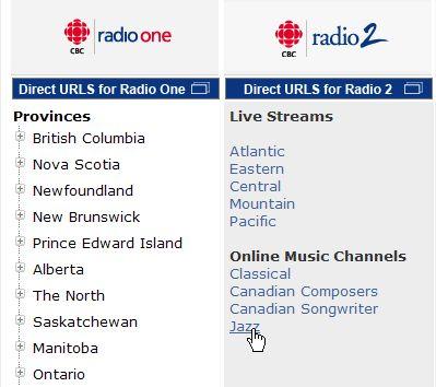 『Live cbc RADIO』>>Listen