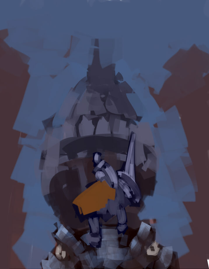 建物の練習をしたいので、背景に城の様なものを描こうと思ってます。(クリックで拡大)
