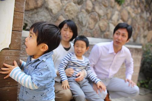 家族写真 H家〜高い高い〜