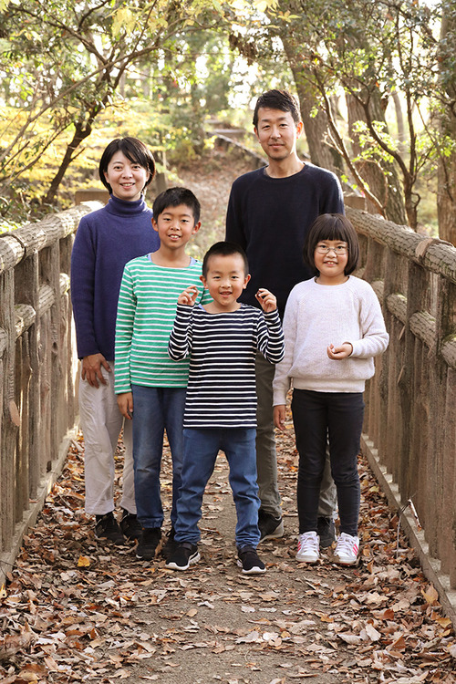 撮影する時の整列のバランスが秀でているTさん家族