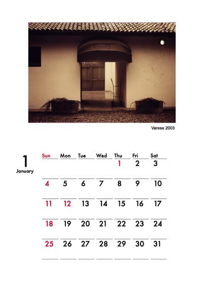 2009年イリエフォトカレンダー