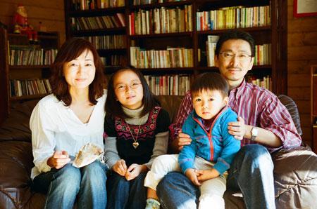 入江家での家族写真報告