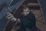 恵比須の放った車輪刃が船もろとも中居屋を縛りあげた