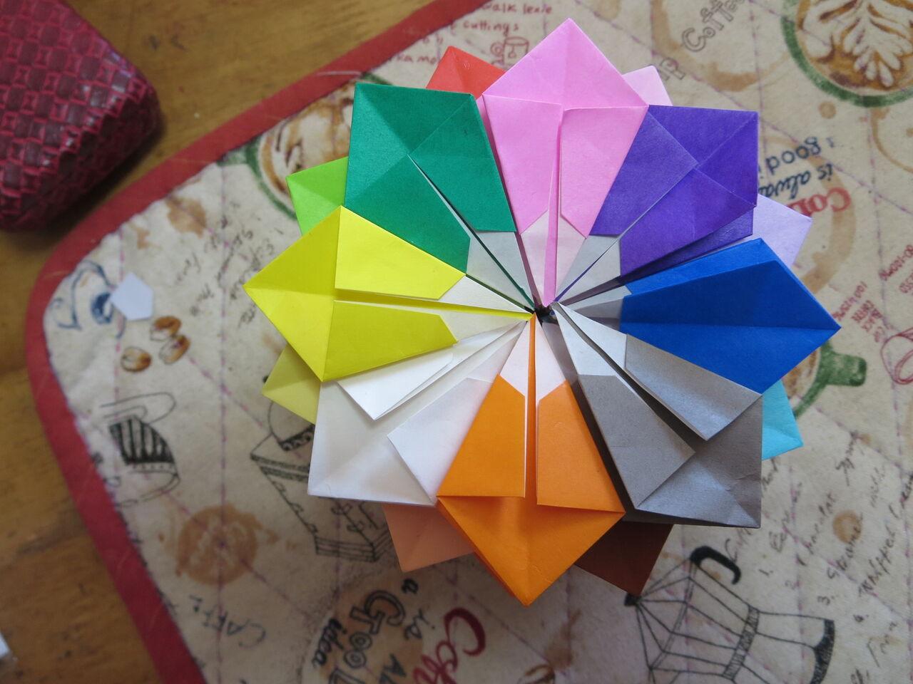 簡単 方 折り紙 折り 万華鏡