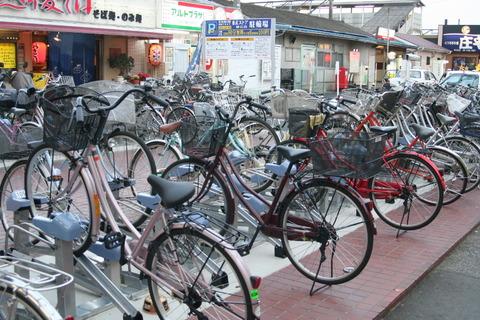 自転車置き場 パチン