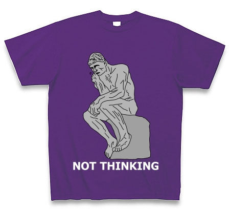 考えてない人Tシャツ