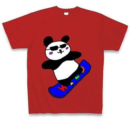 波乗りパンダ Tシャツ