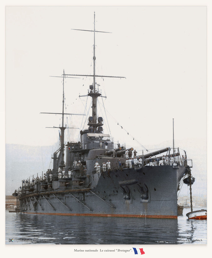 """Marine nationale  Le """"Bretagne"""""""