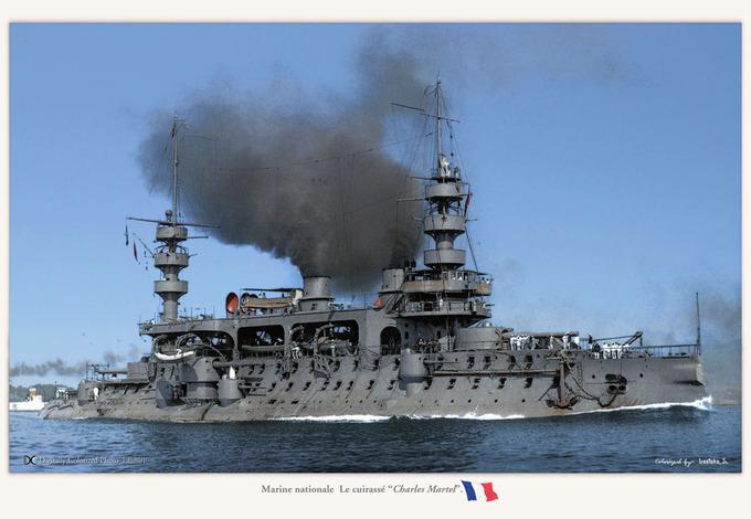 "Marine nationale  La ""Charles Martel"""