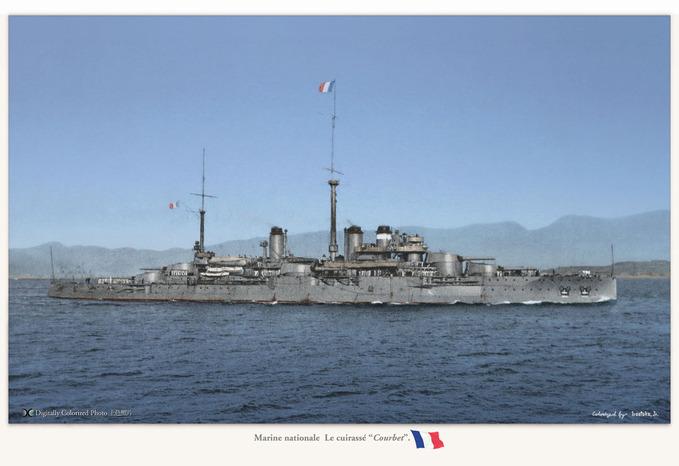 "Marine nationale  La ""Courbet"""