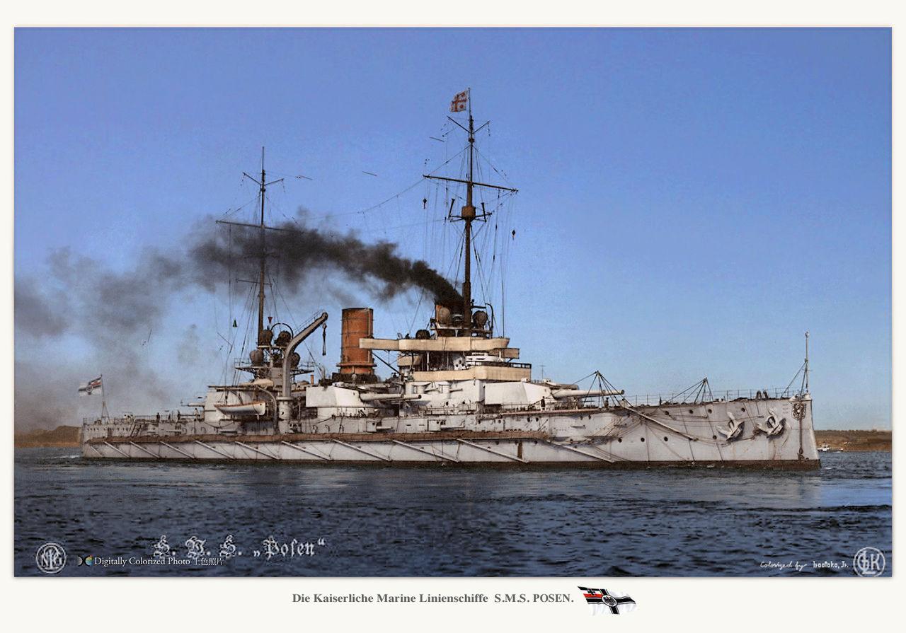 Battleship Posen : MONOCHROME ...