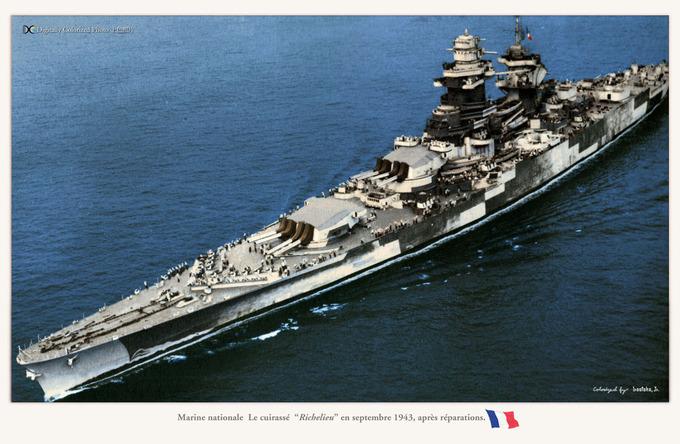 Marine nationale  La Richelieu_sep1943