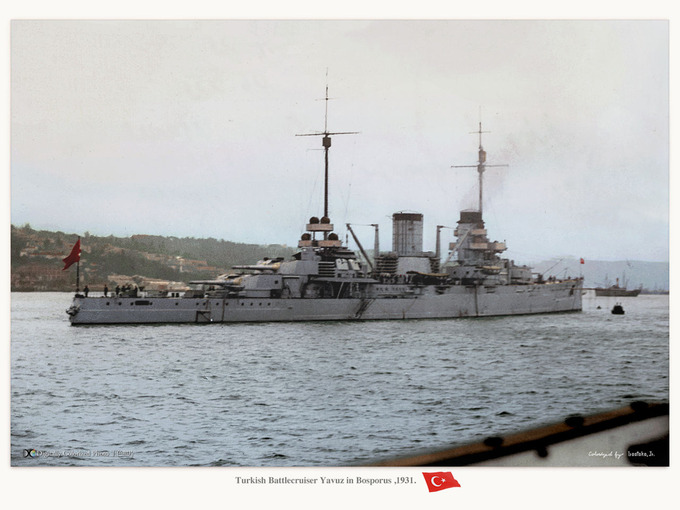 Battle cruiser Yavuz : MONOCHR...