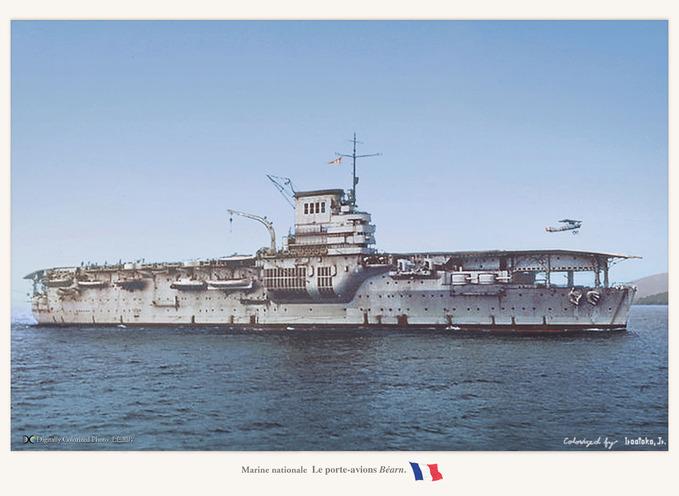 Le porte-avions Bearn