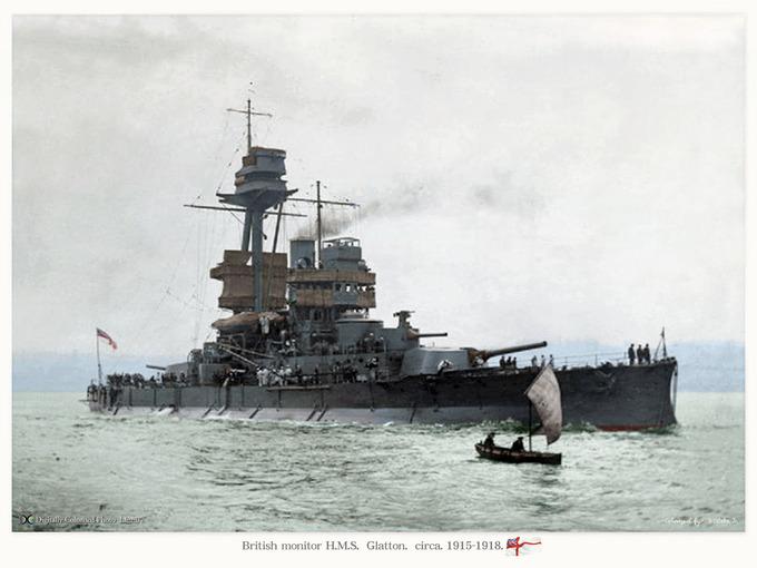 HMS_Glatton circa1915_1918