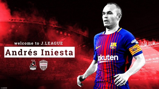 iniesta welcome to J league