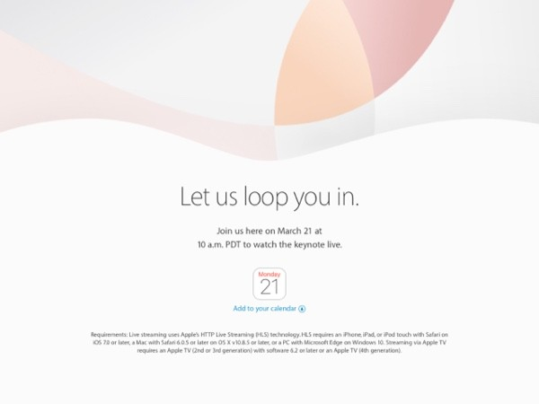 Apple Special Event 2016 3 21