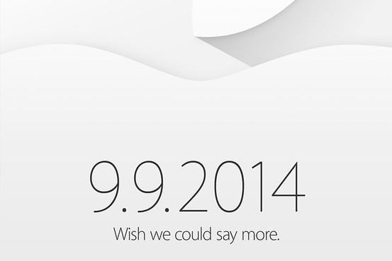 Apple Invitation 9th Sep 2014 Event
