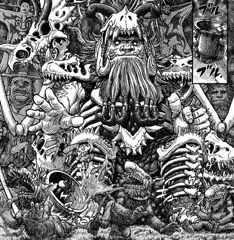【悲報】ベルセルク、せっかくキャスカ復活したのに、またグリフィスサイドの妖怪大戦争を描いてしまう  [255920271]->画像>49枚
