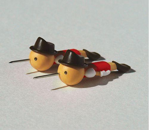 ピノキオのプッシュピン