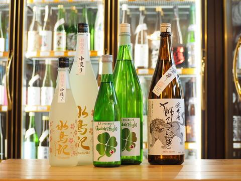 【日本酒】「獅子の里」「クアドリフォリオ」「水鳥記」が入荷いたしました。