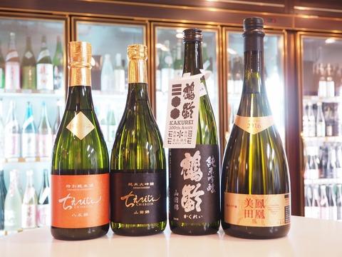 日本酒「ちえびじん」「鶴齢」「鳳凰美田」