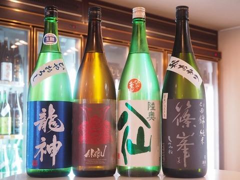日本酒「陸奥八仙」「赤武」「龍神」