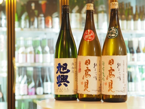 日本酒「日高見 天竺」「旭興 無加圧」入荷!