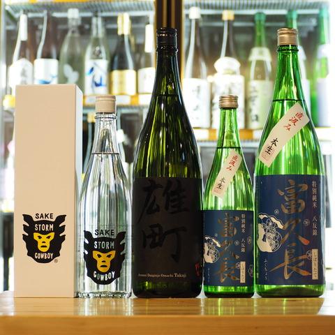 日本酒「富久長」「多賀治」「Ohmine」