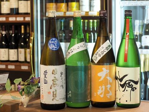 日本酒「大那」「日高見」「松嶺の富士」「仙禽」