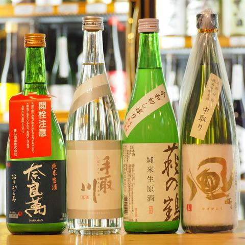 【日本酒】「奈良萬」「手取川」「萩の鶴」「風が吹く」