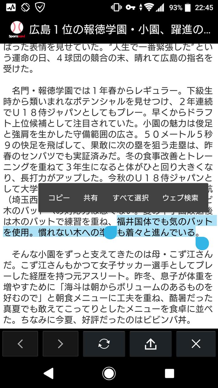 【悲報】報徳学園小園、福井国体でとんでもないバットを使用してしまう