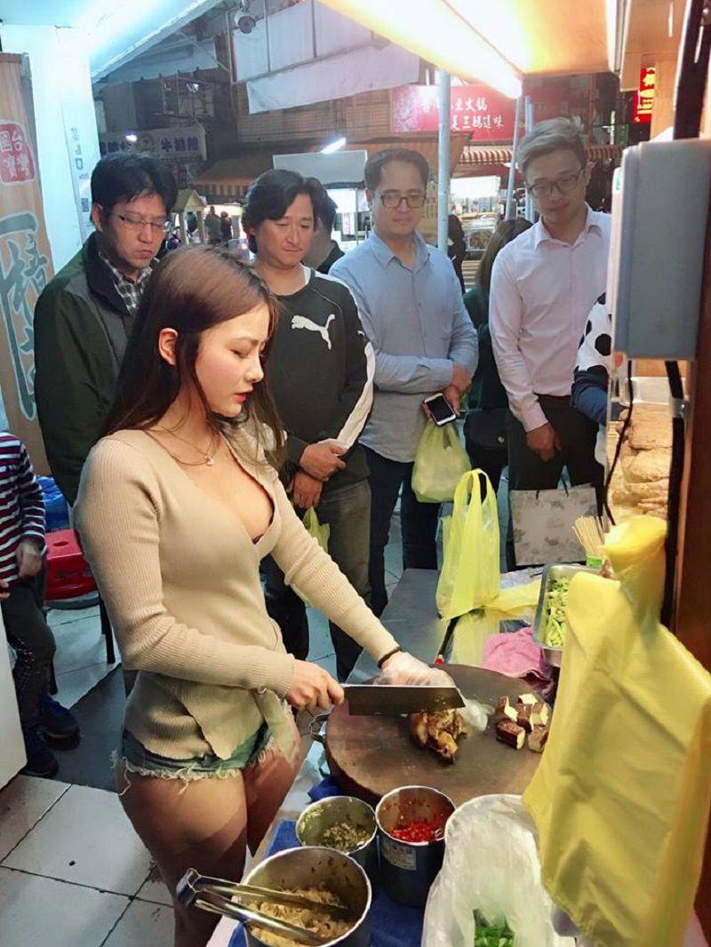 赤字で苦しむ台湾の肉屋さん、美女に一日店長をやってもらった結果wwwww