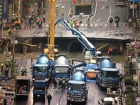 【福岡博多駅陥没事故】復旧工事がまるでシンゴジラの「ヤシオリ作戦」だと話題!衝撃画像がこちら・・・