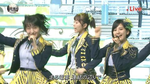 【悲報】音楽の日で「メロンジュース」熱唱のHKT田島芽瑠ちゃん・・・太りすぎて何かと話題に!