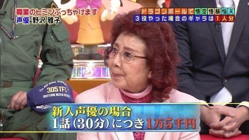 野沢雅子(49)「よっしゃドラゴンボールの主役ゲットしたぞ!これで食いっぱぐれねえな」