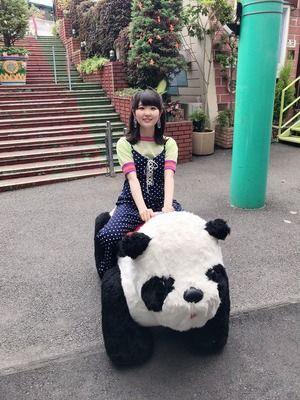 【画像】声優の東山奈央さん(27)、パンダに乗ってしまう