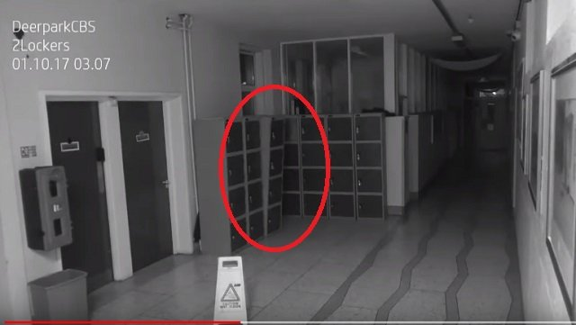 アイルランドの学校でポルターガイスト現象が撮影される