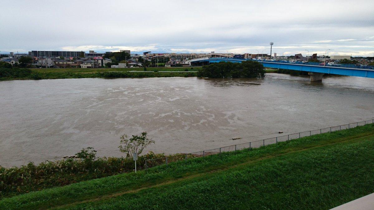 【現地画像あり】台風21号 東京・埼玉流れる中川が増水・氾濫危険水位に!現地リアルTwitter声&画像あり
