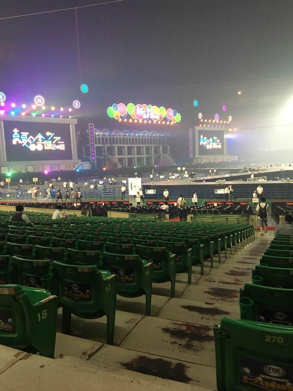 乃木坂46「真夏の全国ツアー2018」福岡ヤフオク!ドームの会場内の様子